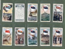 Tobacco cigarette cards Flags of the Empire 1929 set